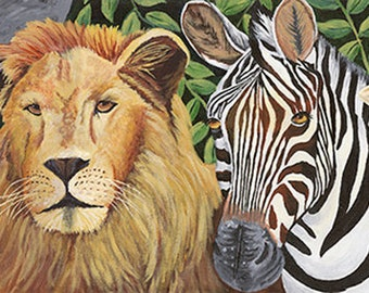 Safari, Fine Art Giclee, Home Decor, African Animals, Jungle Animals