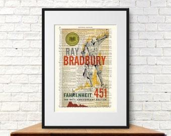 Fahrenheit 451 by Ray Bradbury. Book Cover Art Print