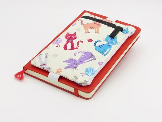 Cat Design Bullet Journal Pouch