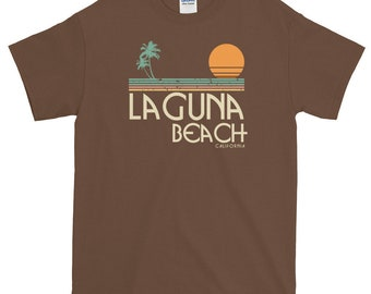 Laguna Beach California Vintage Surf Short-Sleeve T-Shirt
