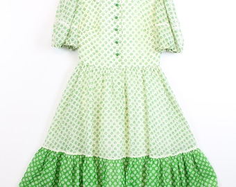 1960s PETER PAN collar Dress Small Vintage 60s RUFFLED Dress