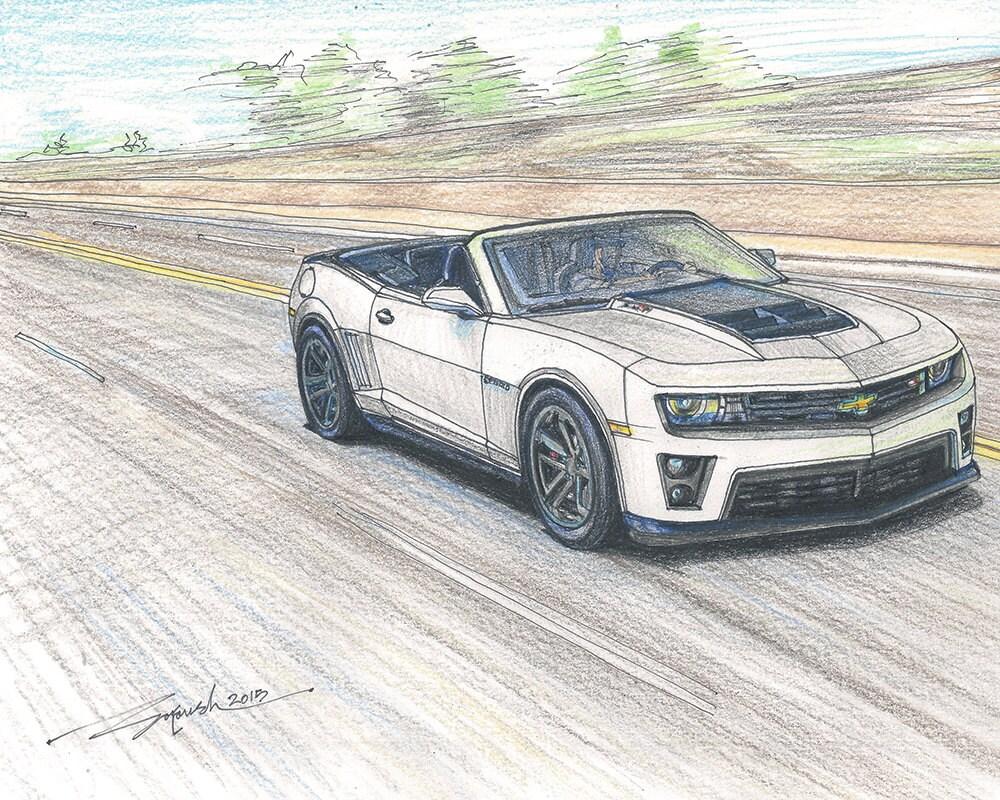 Encantador Dibujo De Chevrolet Corvette Para Colorear Colección ...