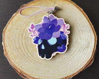 Flower Skull Keychain