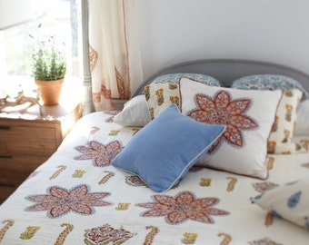 Istanbul Queen cotton hand block printed quilt