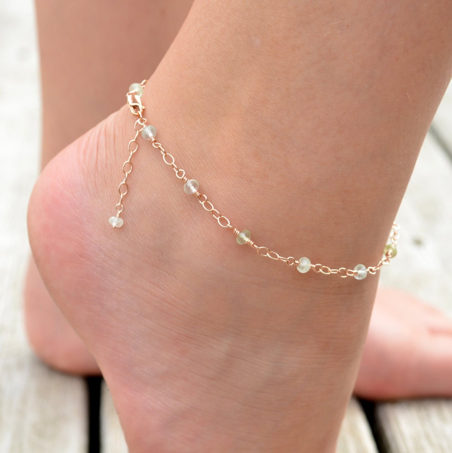charm beaded plated anklet rose asp p sterling ekm silver ladies with star gold