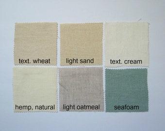 Harmony Fabric Samples, Hemp Fabric Samples, Heavy Linen Fabric Samples, NikkiDesigns Fabric Samples