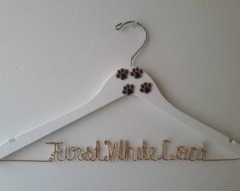 Personalized Veterinarian Hanger, DVM Hanger, Unique, Special Design, White Coat Ceremony, First White Coat Hanger, Veterinarian Gift
