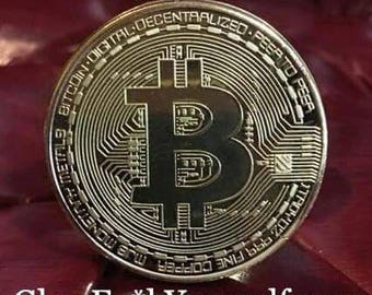 Bitcoin butt plug! Huge gold toned investment for your booty bank! Mature tool for financial focus kinky tail adhd spinner