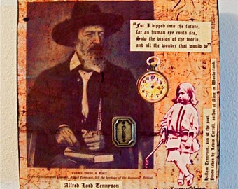 Alfred Lord Tennyson, original collage