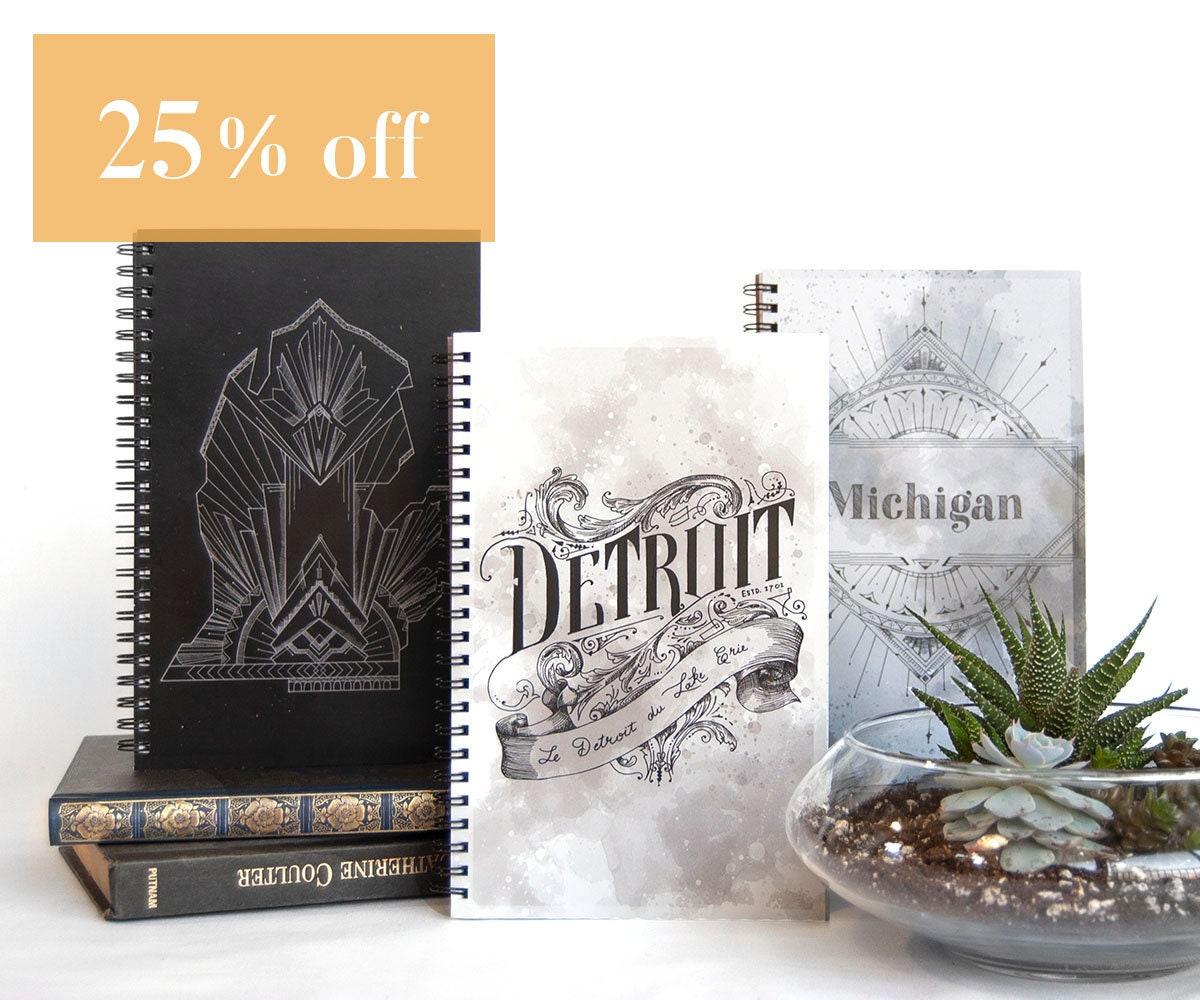 art deco notebooks pack of 3