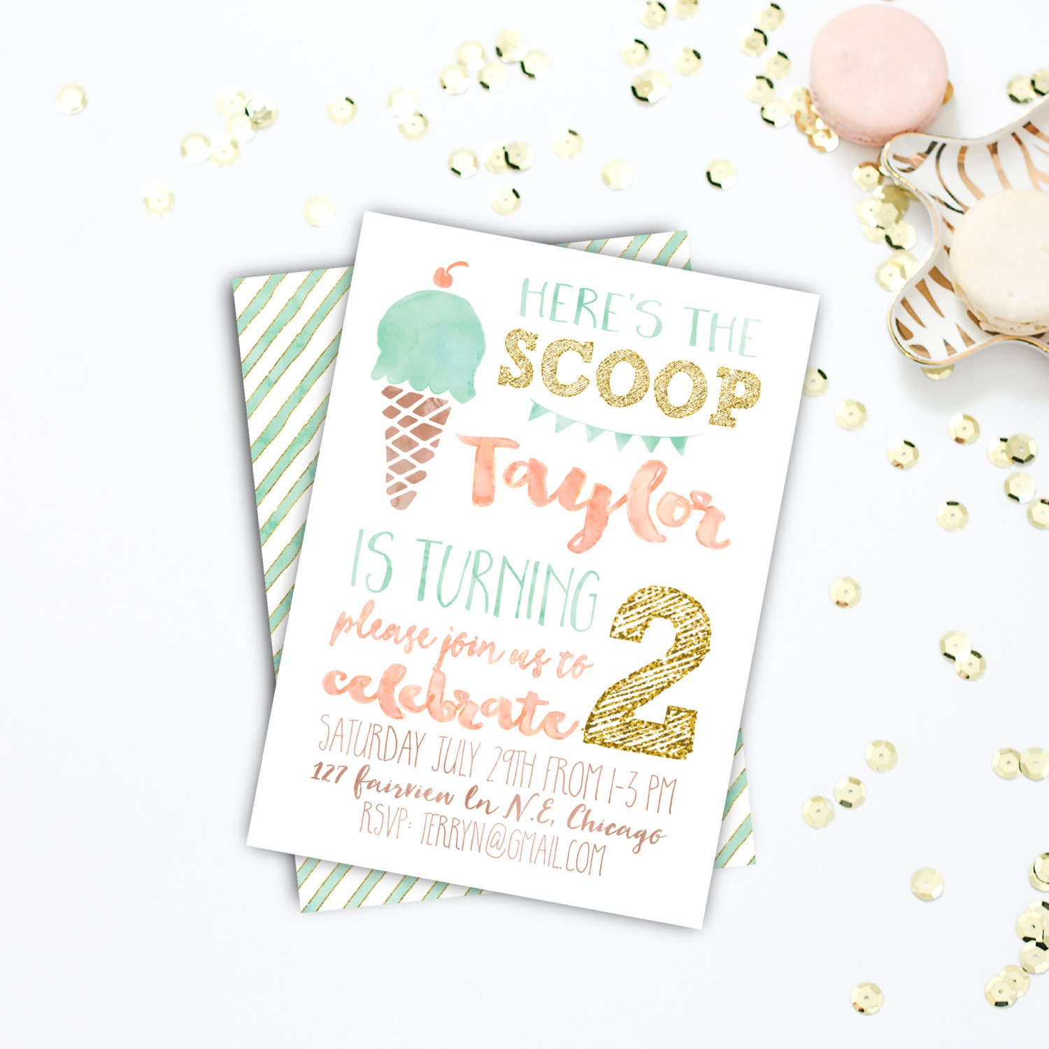 Birthday Party invitations, Summer Birthday Invitation, Printable ...