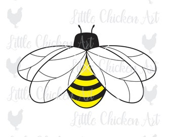 Honeybee / Bumblebee, SVG file, cut file, clip art, Silhouette Cameo, Cricut, ScanNCut, Scrapbook, jpeg, dxf, honey bee, bumble bee