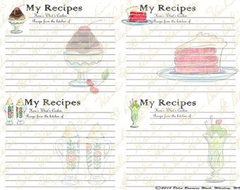 Sweet Surprises - Digital Folding Recipe Cards - Perfect for Your Kitchen - Printable PDF
