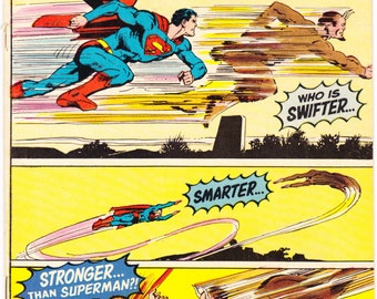 Superman 235, Lois Lane comic book, Man of Steel, DC Comics, Vintage Neal Adams art, Bronze Age Curt Swan, 1971 in VG+ (4.5)