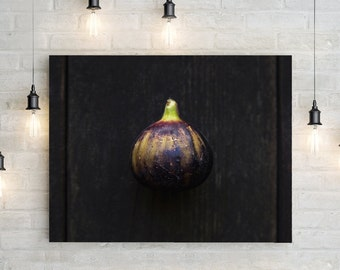 fig v. one // food photography print // kitchen decor // dining room // canvas art // canvas print // rustic farmhouse wall art