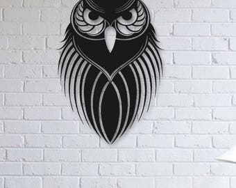 Night Owl Metal Wall Art, Animals Wall Art, Wall Decor, Metallic Paint, Living Room Wall Decor, Bedroom Wall Decor, Metal Wall Hanging