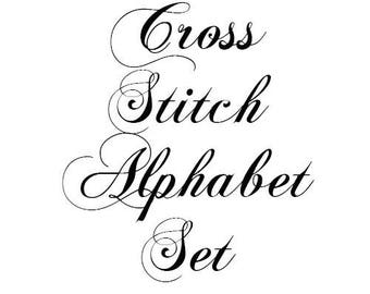 Alphabet Set Number 1 Cross Stitch Pattern