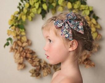 Liberty Hair Bow Bow Girls Hair Clip Sailor Bow Liberty of London Liberty Hair Clip Floral Hair Bow Fabric Hair Bow Liberty Hair Bows