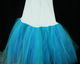 Fishtail petticoat mermaid blue wedding underskirt puff bride bridal formal dance bridesmaid -- You choose Size -- Sisters of the Moon