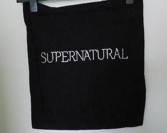 Handmade tote bag -Supernatural logo