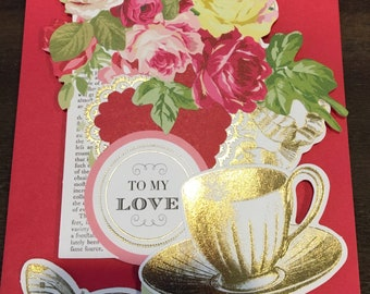 """Angel Diva 3 Dimensional  Greeting Card """"To My Love"""""""