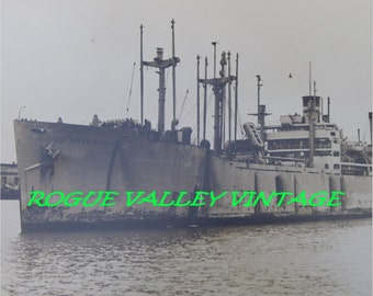 AIKEN VICTORY SHIP, Extra Large 10x14,1940's  Black and White Reprint, Vintage Military Photograph