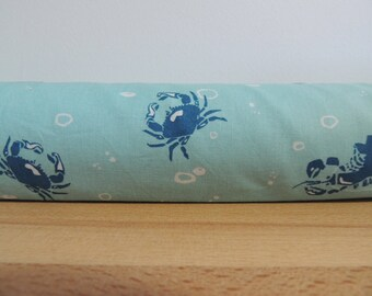 Door draft Stopper. Door or window snake. Draught excluder. House and home accessory.eco friendly energy saver. crabs and lobsters