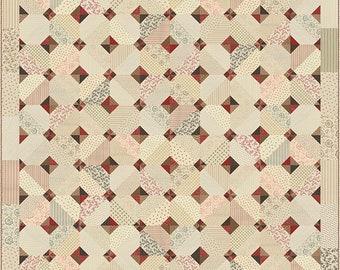 Miss Rosie's Old School Civil War Shirtings Fat Quarter FQ Friendly Quilt Pattern 66 x 66