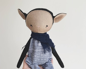 "the foundlings | handmade cloth lamb doll | ""genevieve"""