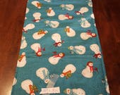 Table Runner Teddy Bears Snowmen Skiing #102