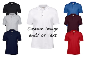 Custom Adult Polo Shirt/ Custom T-shirt / Customized Golf Shirt / Design Your Own Polo / Custom Polo / Custom Polo Golf Shirt