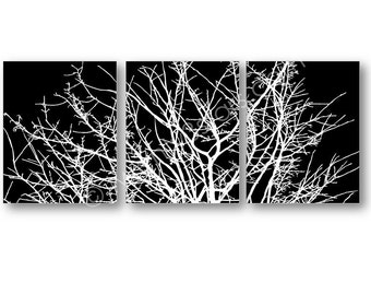 Tree Branches Set of 3 Canvases or Art Prints, Tree Wall Art, Tree Canvases, Tree Canvas. Dead Tree Branch Art, Tree Branch Poster Prints