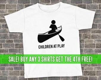 Canoeing T-Shirt, Canoe Shirt, Unisex T-Shirt, Kids Canoeing Shirt, Kids Canoeing T-Shirt, Many Colors, Kids Tee, Children at Play