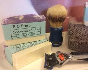 Men's Soap(Cedarwood),mosturizing,men's,women's,gifts,BrendaDsoap.