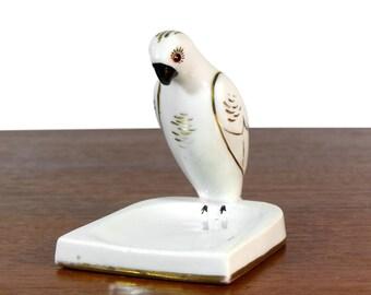 White Parrot Robj - Robj parrot ceramic ashtray