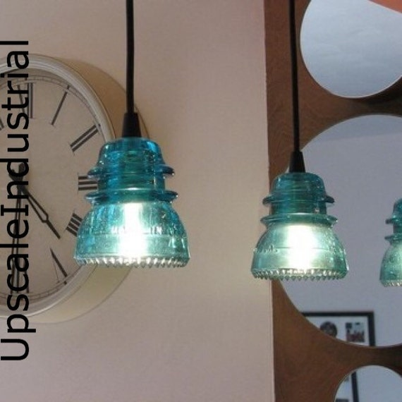 Pendant light glass insulator kitchen island lighting for Insulator pendant light