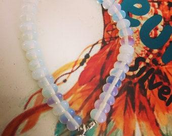 Moonstone lotus bracelet