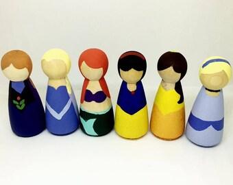 PRINCESS PACK - Peg Dolls