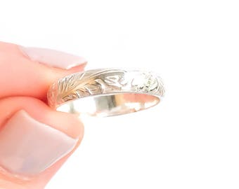 Thick Sterling Silver Ring, Textured Ring, Sterling Silver, Thick Band, Statement Ring