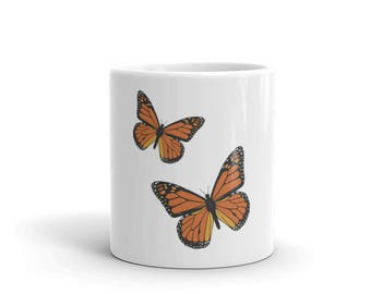 Monarch Butterfly Coffee Mug, Monarch Butterfly Coffee Cup, Coffee Mug Gift, Monarch Butterfly Gifts, Coffee Lover Gifts