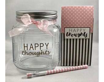 Happy Thoughts Gratitude Jar