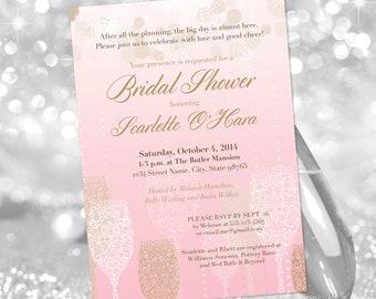 Champagne Wedding Shower Invitation