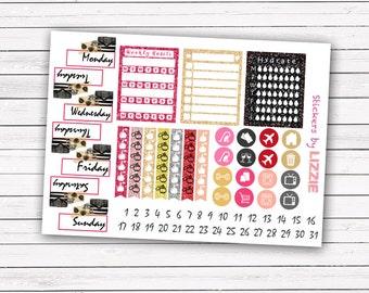 Paris Dream add-on stickers || Erin Condren planner vertical layout