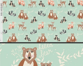 Oh, Hello Meadow - Hello, Bear Collection - Designer: Bonnie Christine - Art Gallery Fabrics - Premium Quilting Fabric - One Yard Fabric