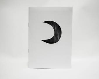 Everything I Know About The Moon - art zine with laser cut cover