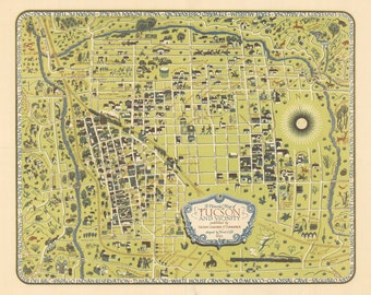 Map vintage tucson Etsy