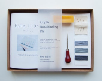 Coptic Bookbinding Kit - Slate
