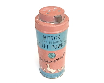 Cute Vintage Merck Duck Powder Tin