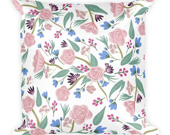 Haddie Floral Print Square Pillow