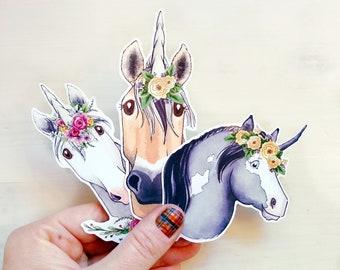 Unicorn Stickers Horse Planner Stickers Unicorn Planner Accessories Bullet Journal Laptop Sticker Horse Lover Girl Birthday Gift Unicorn